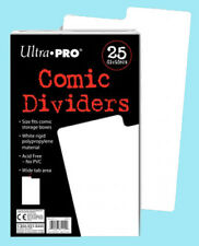 25 ULTRA PRO COMIC BOOK DIVIDERS NEW White Archival Safe Storage Write On Strip