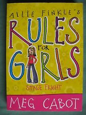 Allie Finkle's Rules For Girls Stage Fright Meg Cabot ISBN 9780330453783
