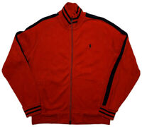 POLO RALPH LAUREN Full Zip Cotton Track Jacket Red Large L