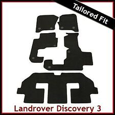 Landrover Discovery 3 7Seater Tailored Fitted Car Mat 2 Clip
