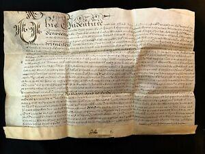 VELLUM INDENTURE DOCUMENT 1644