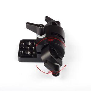 360° Swivel 15mm Rod Clamp Mount Adapter fr Camera Gimbal Power V-mount Battery