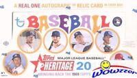 2018 Topps Heritage Baseball Factory Sealed HOBBY Box-AUTOGRAPH/MEM+BOX LOADER!
