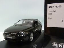 WOW EXTREMELY RARE Volvo S40 Mk2 Saloon T5 Turbo 2003 Black 1:43 Minichamps-V70