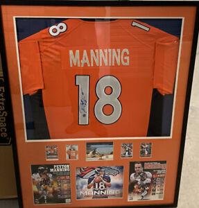 Peyton Manning Denver Broncos Autographed Framed Jersey - COA