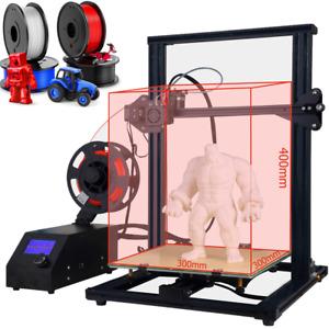 3D Printer A10S Aluminum Prusa I3 Large Print Size 300x300x400mm 1.75mm Filament