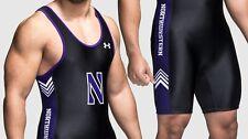 Northwestern University wrestling singlet suit size Medium Large Under Armour