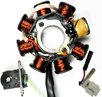 STATOR 49-150cc 4 Stroke Many Chinese ATV, Scooters 8 Coil 2 Pin in 3 Pin Jack