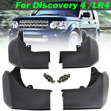 Set For Land Rover Discovery 4 Front Rear Mud Flaps Splash Guards Mudguards