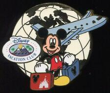 DVC Traveling Mickey with Luggage Globe & Jet Airplane Disney Pin 76818