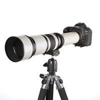 650-1300mm f/8-16 Telephoto Lens for Canon Rebel T5i T4i T3i T1i XT XTi XS XSi