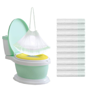 100 Pack Potty Chair Liners Disposable,Drawstring Training Toilet Seat Liner Bag