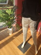 BNWT platinum/silver Paul And Joe  Paris Trousers Size 38 French Polyester+Silk