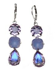 KIRKS FOLLY Shameless Leverback Pierced Earrings - violet / goldtone