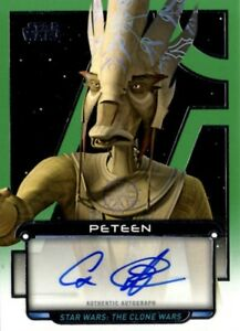Star Wars Galactic Files 2018 Autograph Card, Cas Anver as Peteen, Topps