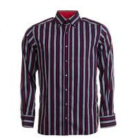 Eterna Sehr Gute Shirt Blau Gestreift Baumwolle Größe S Bw 339