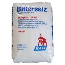 25kg (1,60€/kg) Magnesiumsulfat Epsomit Epsomsalz Bittersalz Lebensmittel Food