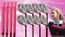 "Petite Women's iDrive Golf Clubs Pink Hybrid (3-PW) Full Set Lady ""L"" Flex Clubs"