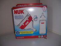 Nuk 3 wide neck baby bottles 10 oz new