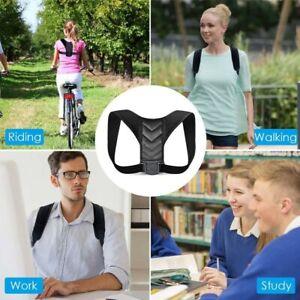 Adjustable Posture Corrector Men Women Upper Back Brace Shoulder Support Belt
