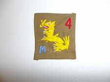b5673 USMC China Marines 1930's M Company 4th Marine Division on Khaki R5D
