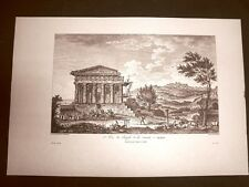 Agrigento Veduta del Tempio della Concordia Voyage Pittoresque di Saint Non