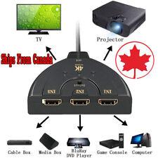 4K 3-Port HDMI Switcher Adapter AV Switch Splitter Converter Hub For HDTV PC TV