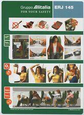 ALITALIA Gruppo ERJ 145 safety card 64502040 06/2001 standard size - sc622