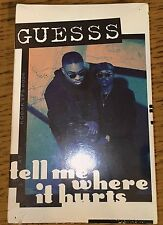 Guesss - Tell Me Where It Hurts 1993 R&B Tape Single Sealed Michigan