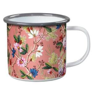 V&A William Kilburn Floral Enamel Mug BNWT Designer Home Garden Camping Outdoors
