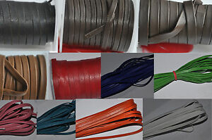 100% Real Flat Nappa Leather Cord - String Lace Thong Jewellery - Best Quality