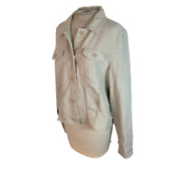 Tommy Bahama Linen Light Jacket Tan Khaki L Large