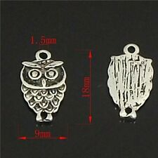 10 X OWL HARRY POTTER BIRD WIZARD MAGIC Tibetan Silver CHARMS PENDANTS BEADS