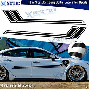 "67"" Side Skirt Door Black Decal Graphics Vinyl Sticker For Mazda 3 6 MX-5 Miata"