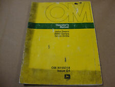 JOHN DEERE OPERATORS MANUAL FOR 8000 SERIES GRAIN DRILLS
