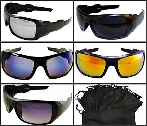 Sport Oak Sunglasses Mens Womens Biker Fishing Golf Mirror Gold Blue Dark Smoke