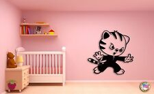 Wall Sticker For Kids Funny Karate Cat Kitty Cool Decor for Nursery Room z1396