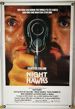 NIGHTHAWKS FF ORIG 1SH MOVIE POSTER SYLVESTER STALLONE RUTGER HAUER (1981)
