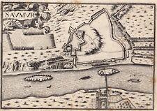 Gravure XVIIe Saumur Maine et Loire Christophe Tassin 1634