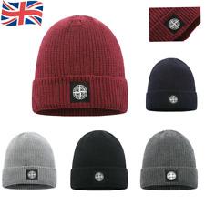 New Stone Island Warm Cuffed Cap Knit Stretch Beanie Winter Hat Men Women Xmas