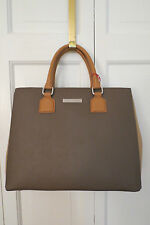 Charles Jourdan Lilac Two-Tone Taupe Leather Satchel NWT - $440