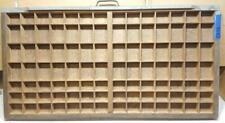 Letterpress Wood Printer Type Drawer Double Cap Tray Shadowbox    CA48  12#