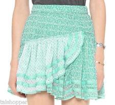FREE PEOPLE Annabel Lee Tiered Short Sky Combo Chiffon Mini Skirt NWT 10 M CUTE!