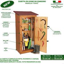 Casetta Piave in legno trattato ricoveri attrezzi e utensili armadio pvc mensola
