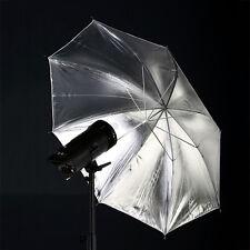"""110cm/43"""" Studio Reflektorschirm Schwarz innen Silber Studioschirm-Fotoschirm"""