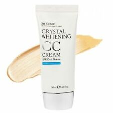 3W Clinic Crystal Whitening CC Cream SPF50+ PA +++ Color 02 Natural Beige NIB