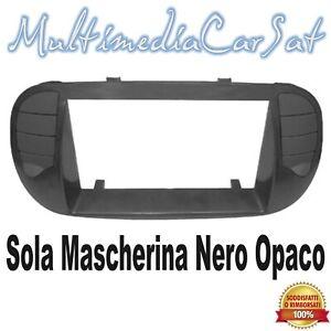 Mascherina Cambio Autoradio Nero Opaco 2 Din Fiat 500 - Ricambio U3578