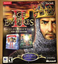 AGE OF EMPIRES II 2 GOLD Edition for Macintosh Mac Soft RARE Apple COMPLETE
