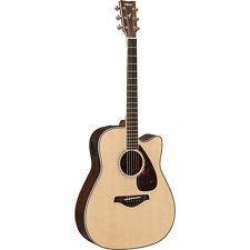 Yamaha FGX830C FGX Dreadnought Single Cutaway Acoustic-Electric Guitar Natural