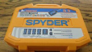 Spyder 9Pc Tarantula Hole Saw Kit 600925 w/ Rapid Core Eject